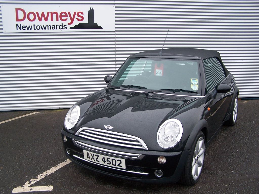2004 mini cooper 1 6 convertible chilli pack used kia dealer northern ireland used kia approved. Black Bedroom Furniture Sets. Home Design Ideas