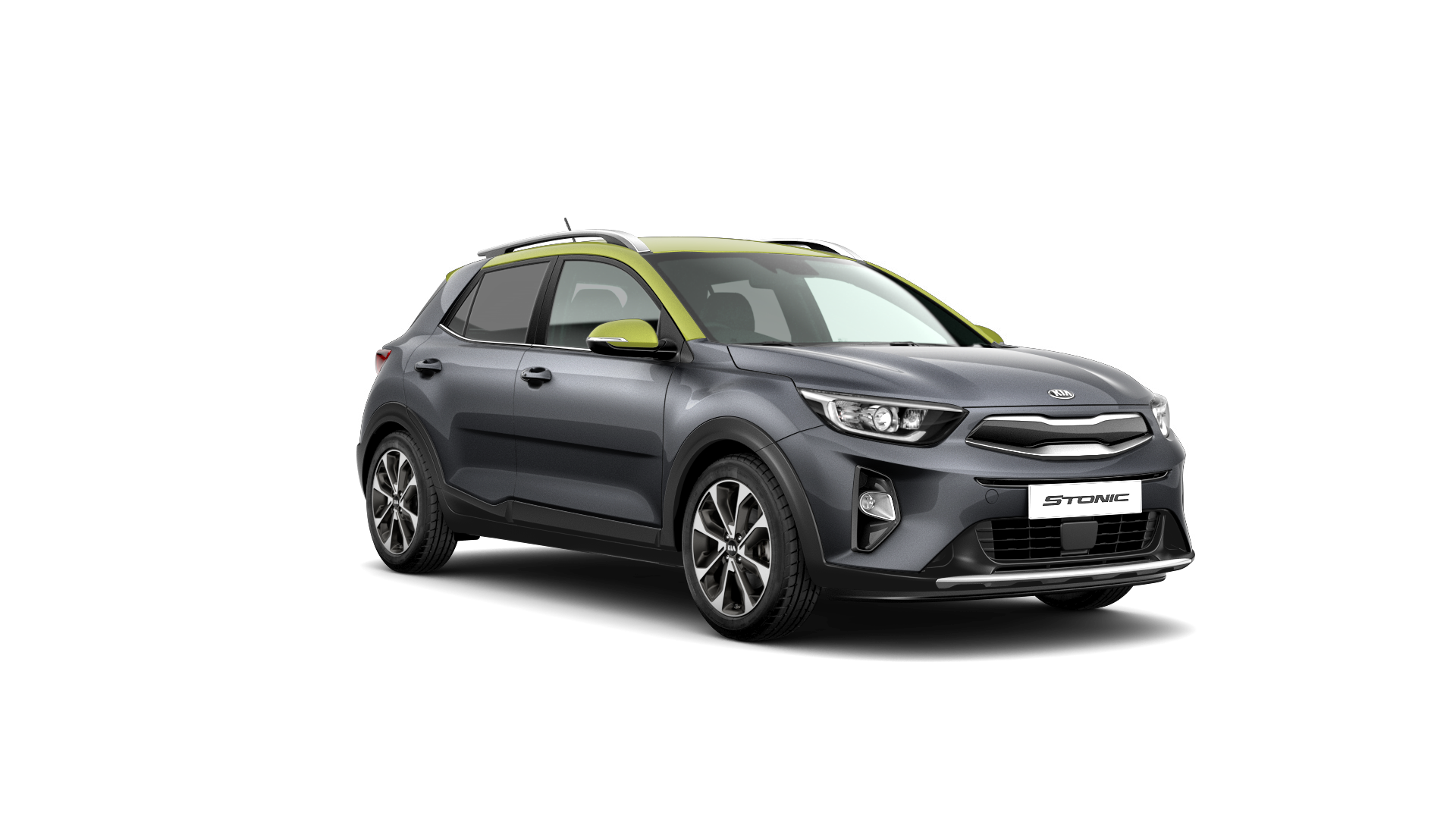 Kia Stonic First Edition - Graphite / Lime Green