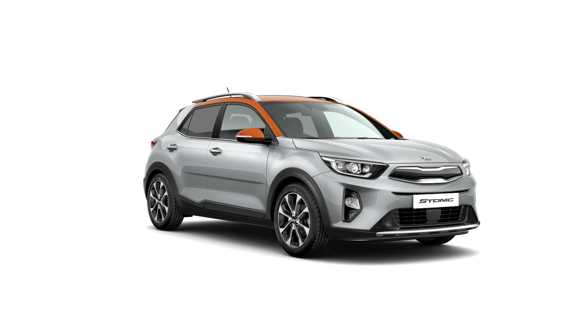 Kia Stonic First Edition - Satin Silver / Orange